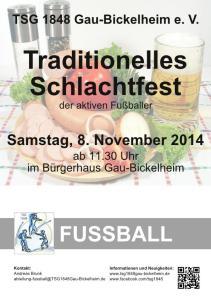 Schlachtfest TSG 1848 Gau-Bickelheim e. V.